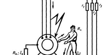 заземление электродвигателя схема