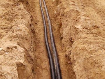 кабель в траншее